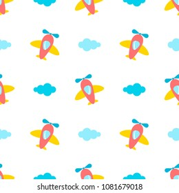 seamless pattern with colorful planes