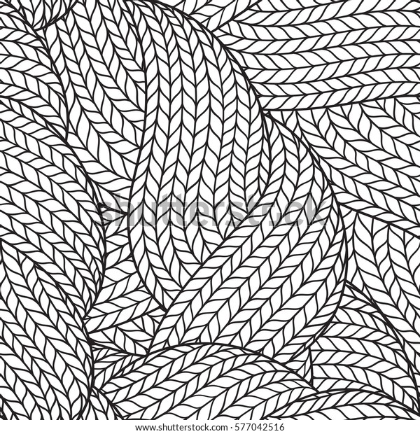 Seamless Pattern Coloring Book Adult Abstract Stock ...