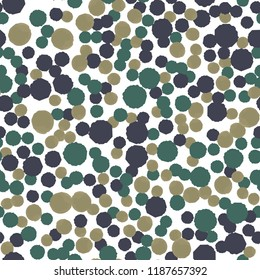 Seamless Pattern Coloring Points of three colors. For your design. Vector.