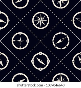 Seamless pattern with compass for your design