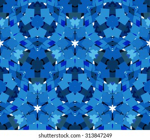 Seamless pattern composed of color abstract elements located on white background. Useful as design element for texture, pattern and artistic compositions. Vector illustration.