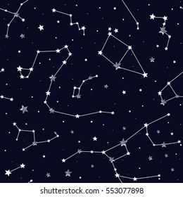 Seamless pattern of constellations.