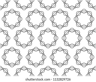 Seamless pattern of the contour ball bearing races