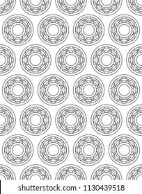 Seamless pattern of the contour ball bearings
