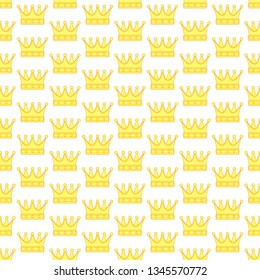 Seamless pattern of the contour royal crowns