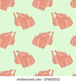 Seamless pattern for cooking fried chicken