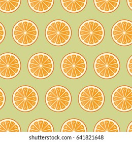 seamless pattern cooking recipe kitchen orange fruit food on green background vector wallpaper textiles