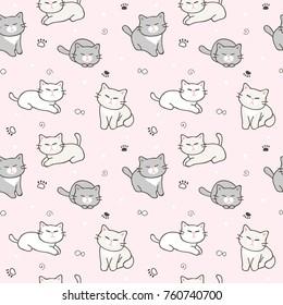 Imagenes Fotos De Stock Y Vectores Sobre Seamless Pattern With Cute Animals Shutterstock