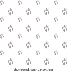 Seamless pattern with cute cartoon footprints of your pet, dog or cat, vector image drawing in vector