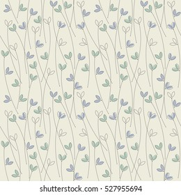 Seamless pattern with cute plants can be used for wallpapers, surface textures, textile,linen, tile, kids cloth, pattern fills, page backgrounds and more creative designs.