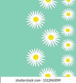 seamless pattern with daisies for fabric and Wallpaper