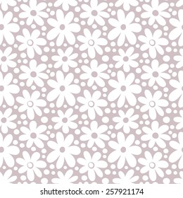 Seamless pattern with decorative daisy flowers. Vintage background. Vector illustration