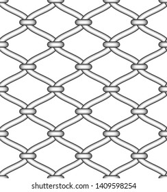 Seamless pattern of decorative metal wire grate. Vector illustration
