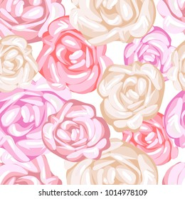 Seamless pattern with decorative roses Can be used for printing on paper, packaging , in textiles.