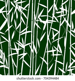 Seamless pattern design with bamboo leaves