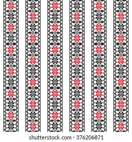 Seamless pattern design inspired by Romanian traditional embroidery