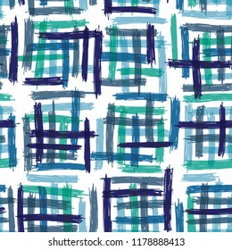 Seamless pattern design with sloppy doodle stripe blocks, abstract repeating background for web and print