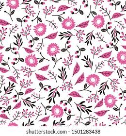 seamless pattern design,flower motive for wallpaper/t shirt,vector illustration