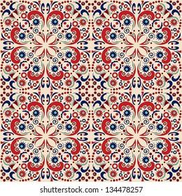 seamless pattern: detailed vector persian carpet