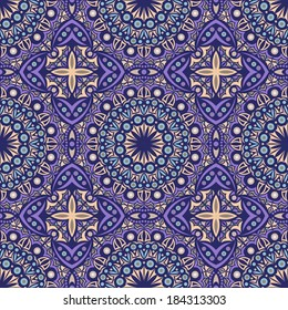 seamless pattern: detailed vector persian ornament