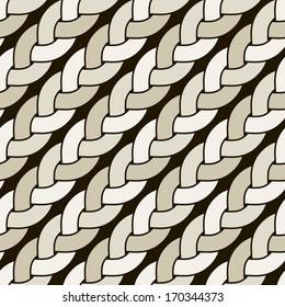 Seamless pattern with diagonal braids. Endless stylish texture