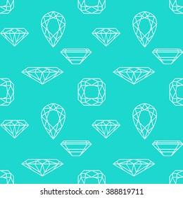 Seamless pattern with diamond