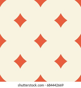 Seamless pattern with diamonds. Vector background with card suit