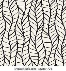 Seamless pattern of different braids. Endless stylish texture