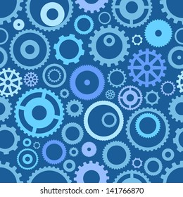 Seamless pattern or different gear wheels