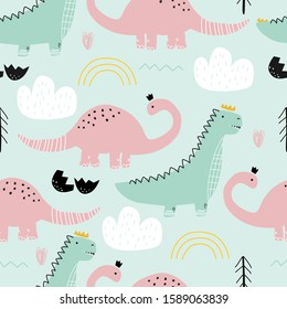Pink Dinosaur Seamless Images Stock Photos Vectors Shutterstock Sin embargo, entre ambos trabajos existe una notable diferencia: https www shutterstock com image vector seamless pattern dinosaurs on colored background 1589063839