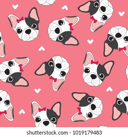 seamless pattern with dog vector illustration