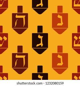 Seamless pattern with Dreidel Kabbalah symbol  for your design
