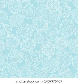 Seamless pattern of easter eggs.