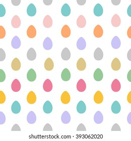 Seamless pattern with easter eggs colorful vector illustration