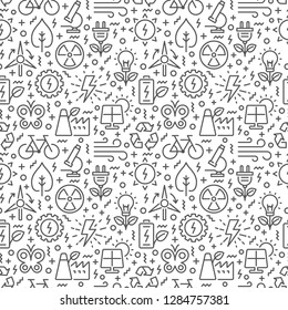 Seamless pattern with ecology related elements