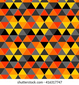 Seamless pattern of equilateral triangles, seamless pattern color background triangle. Triangles pattern. Vector