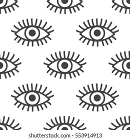 Seamless pattern with eyes. Vector background.