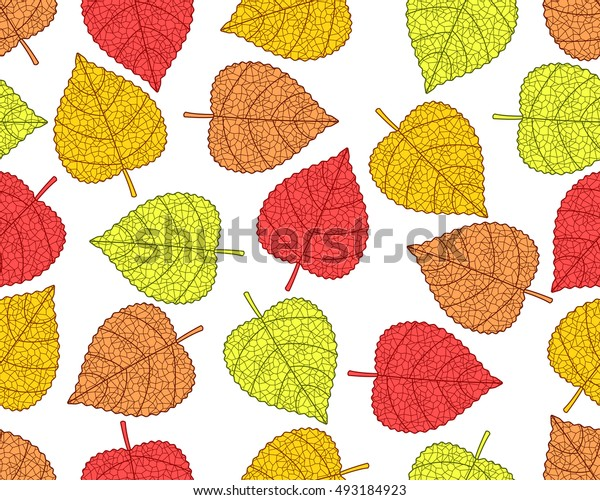 Seamless pattern of the fall leaves