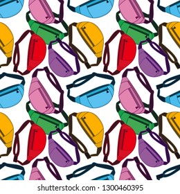 seamless pattern with fanny pack