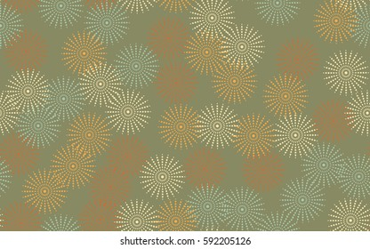 Seamless pattern. Fantastic star flowers. Trendy textiles. Wallpaper for children. Flat. Cartoon.