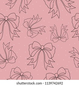 Seamless pattern with fashionable elements. Fashion, accessories. Vector illustration.
