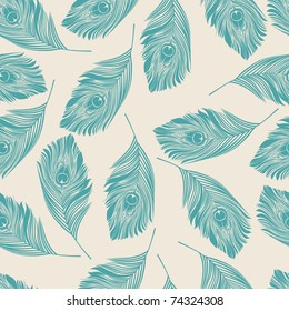 seamless pattern with feather
