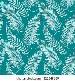 Seamless pattern of a fern leaf. Vector illustration.