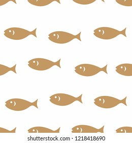 seamless pattern, fish art  background design for fabric and decor