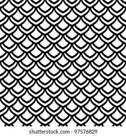 "Seamless pattern. ""Fish scale"" motif. Vector art."