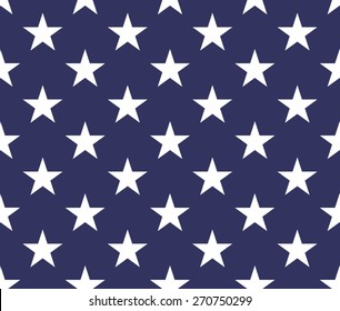 Seamless pattern with five pointed stars