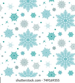 Seamless pattern with flakes. Perfect for wallpaper, gift paper, pattern fills, web page background, cards.