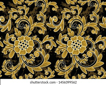 bunga bunga stock vectors images vector art shutterstock https www shutterstock com image vector seamless pattern floral illustration indonesian batik 1456399562