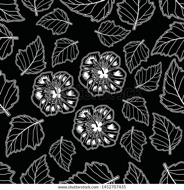 Seamless Pattern Floral Illustration Indonesian Batik Stock Vector