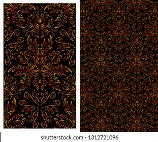 Seamless pattern - floral ornament